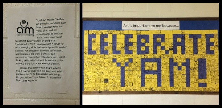 Youth Art Month Collaborative Display